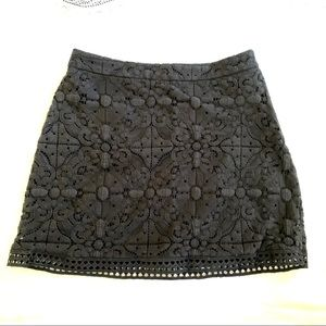 BOGO FREE: Black Lace Skirt with crochet detail